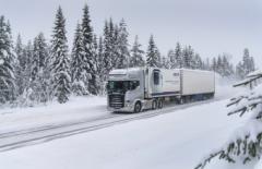 Тест-драйв Scania в зимних условиях